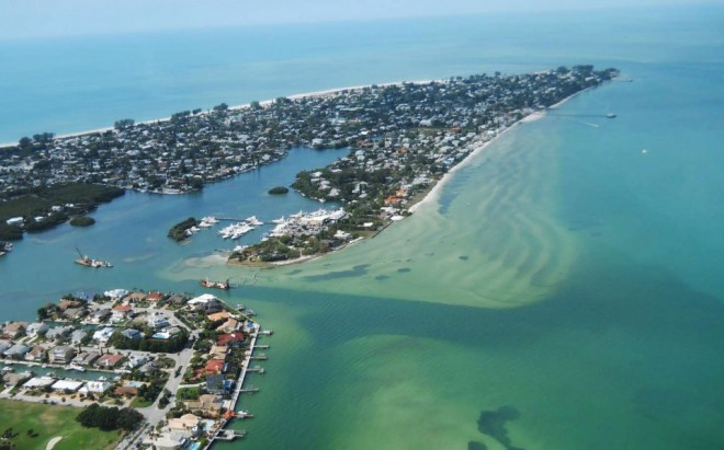 Aerial photo of Bimini Bay