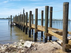 Construction of fishing pier