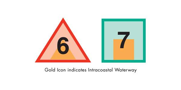 Gold IconIndicates Intracoastal Waterway